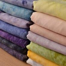 Tecido viscose de algodão respirável, 135x50cm retro azul, roupas diy camiseta saia verão, fina, macia, 125 to150g/m