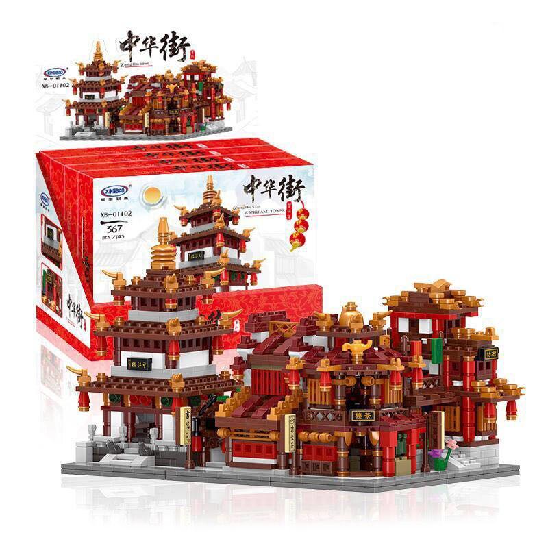 XingBao blocs de construction chine WANGJIANG tour tissu maison bibliothèque TEAHOUSE Compatible Legoe Lepin blocs jouets pour enfants
