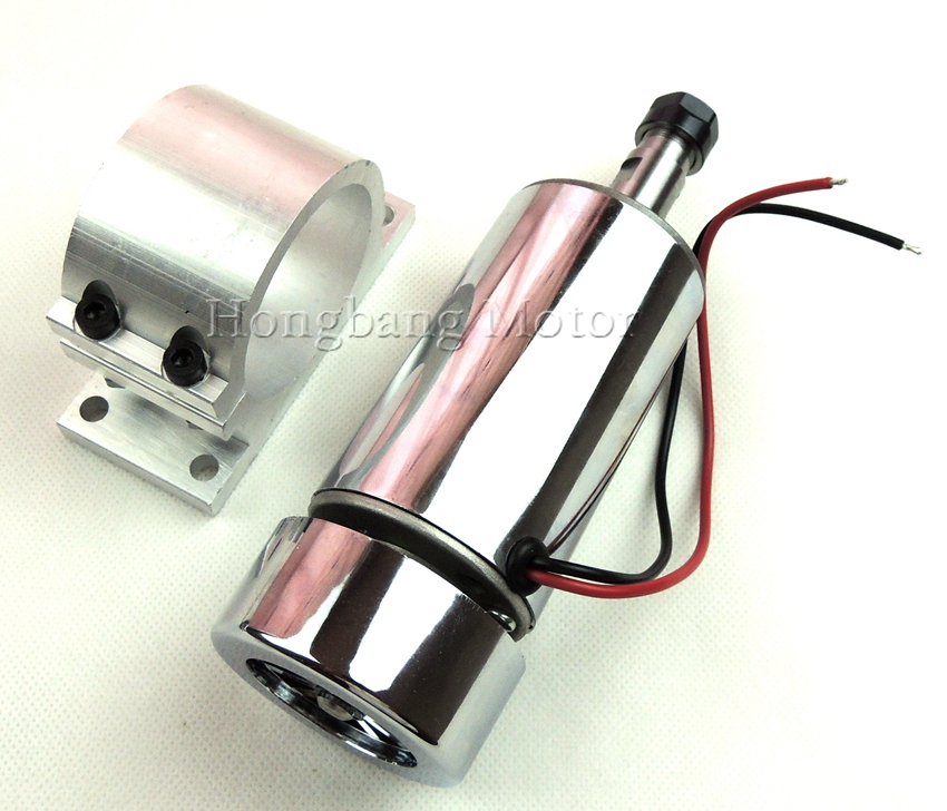 CNC 300W DC12-48V  Spindle motor, 48V-12000r/min, 0.3KW spindle motor for CNC milling machine+ mount bracket + ER11 Collect free shipping 500w er11 collet 52mm diameter dc motor 0 100v cnc carving milling air cold spindle motor for pcb milling machine