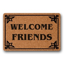 WELCOME Friends funny front door doormats indoor mats for entrance outdoor decor Non woven Top