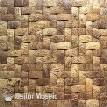 Southeast Asia style natural 100% coconut shell mosaic tile for home decoration цена