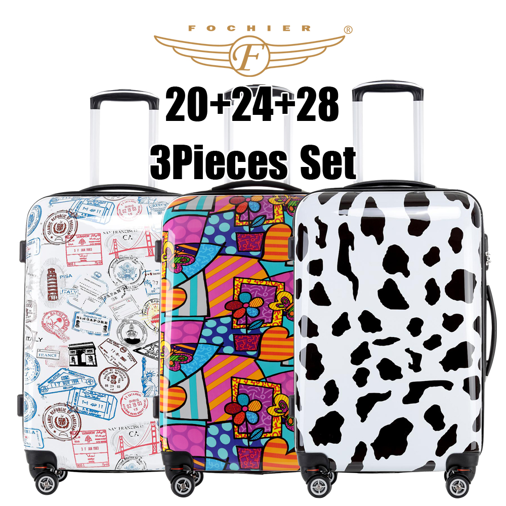 Popular Flower Luggage Set-Buy Cheap Flower Luggage Set lots from ...