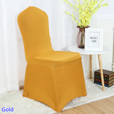 Gold colour chair cover spandex 220GSM 4 way stretch flat ...