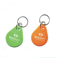 100pcs Custom Printed Logo 125KHZ RFID ID Card Keyfobs TK4100 RFID Keyfobs For Access Control Entrance