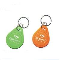 Porte-clés RFID pour contrôle d'accès   100 pièces  logo personnalisé imprimé 125KHZ  carte d'identification RFID/TK4100