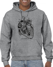 2019 New Casual Anatomical Heart Medical Anatomy Illustration Man Hoodies Sweatshirts Good Quality