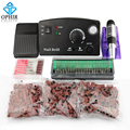 OPHIR 30000RPM Electric Nail Drill Kit Pedicure Manicure Machine Drill Bits Sanding Bands Nail Art Tools#KD146WE+163+165-167