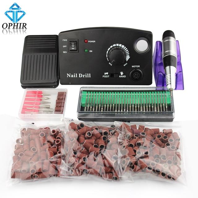 OPHIR 30000RPM Electric Nail Drill Kit Pedicure Manicure Machine ...