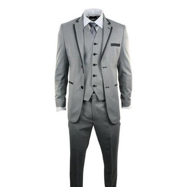 7b9497145671da Nieuwe custom mannen pak grijs bruiloft de bruidegom pak formele party is  geschikt voor hoge kwaliteit