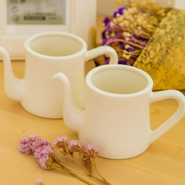 New arrival Zakka Wholesale Teapot shape succulents Ceramic flower pots white small pots gifts Home desktop decoration