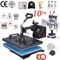 Promotion doubl display 30*38CM 10 in 1 Combo Heat press Machine Sublimation Printer 2D Transfer coffee mug bottle printer
