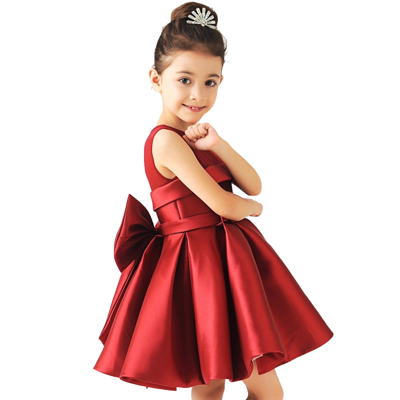 Baby Girl Princess Dress 3-12 Years Kids Sleeveless Big bow tutu  Dresses for Toddler Girl Children Fashion Clothing baby girl princess dress 3 12 years kids sleeveless big bow tutu dresses for toddler girl children fashion clothing