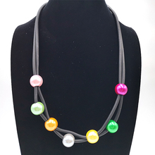 YD&YDBZ New Fashion 7 Colors Pearl Pendant Necklaces Punk Style Female Choker Jewelry High Quality For Women Long Necklaces цена 2017