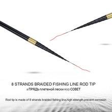 Carp Fishing Rod with Free Spare 3 Tips 3.6M-7.2M Carbon Fiber Fishing Pole Ultra-light Hand Telescopic Fishing Rod
