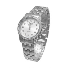 цена на A148 G&D  Women Quartz Wristwatches Silver Stainless Steel Relojes Mujer Luxury Lady Dress Watch Relogio Feminino Gift Boxes