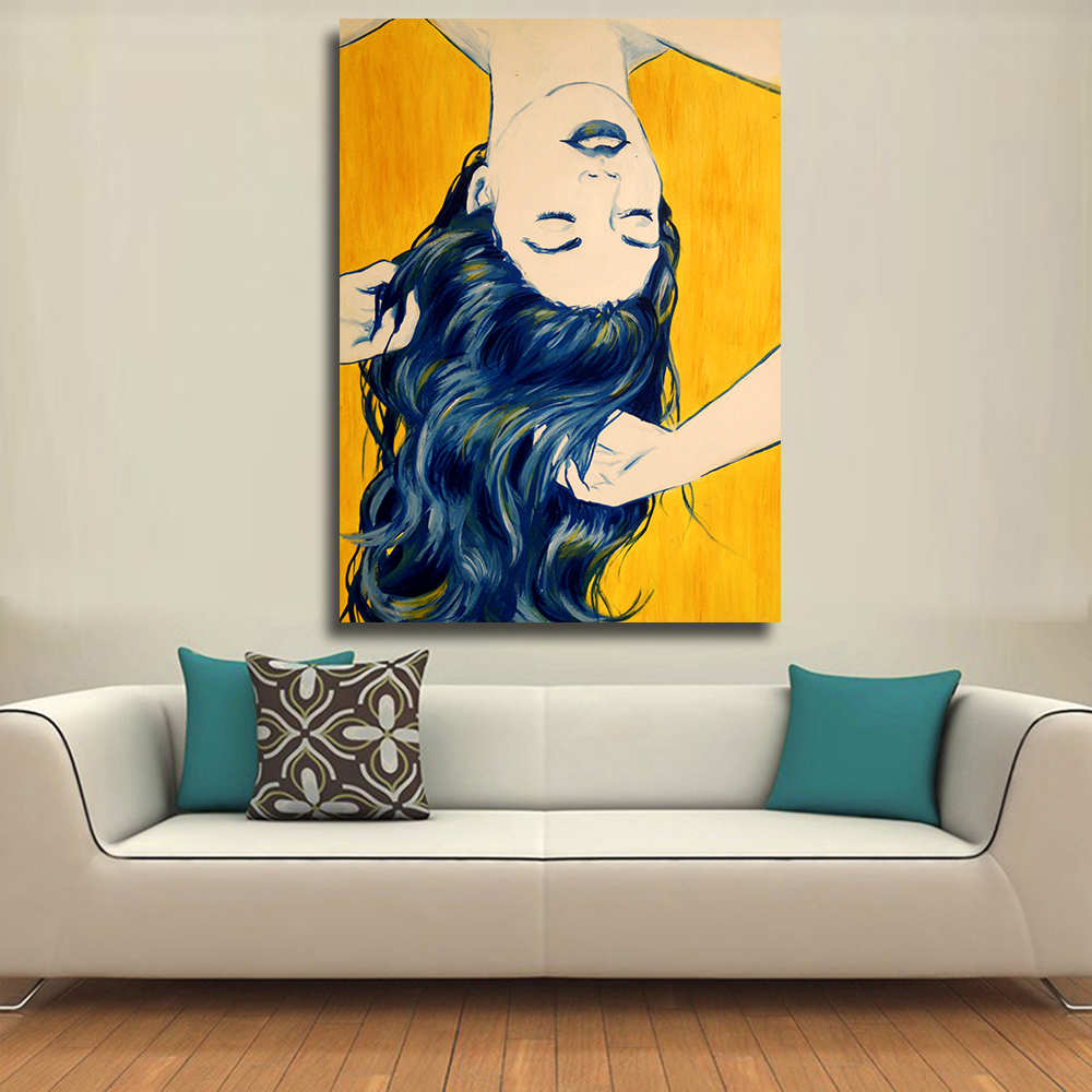 online buy wholesale women pop art from china women pop art qk art home decor pop art sleeping woman oil painting on canvas wall pictures for living