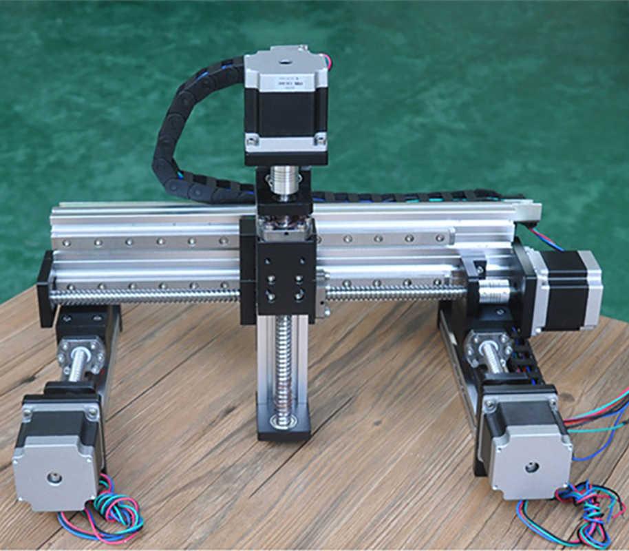 Cnc śruby kulowej liniowy szyna slajdów motion siłownik XYZ najczęściej oglądane-etap tabeli ramię robota Z osi 250mm router Z nema23 silnik krokowy