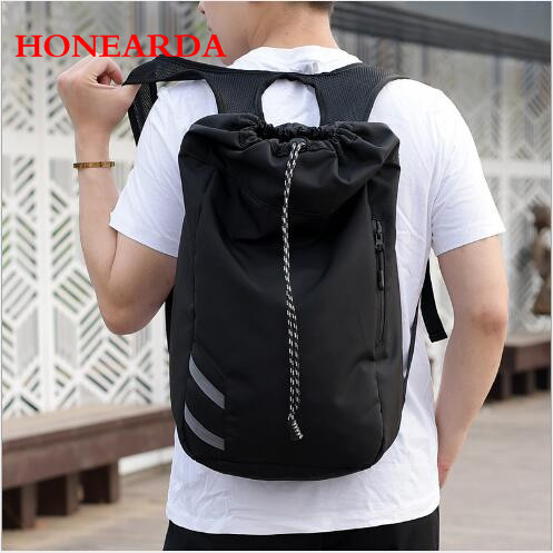 Casual Drawstring Backpack Oxford Cloth Bucket Drawstring Waterproof Outdoor Sports Basketball Backpack