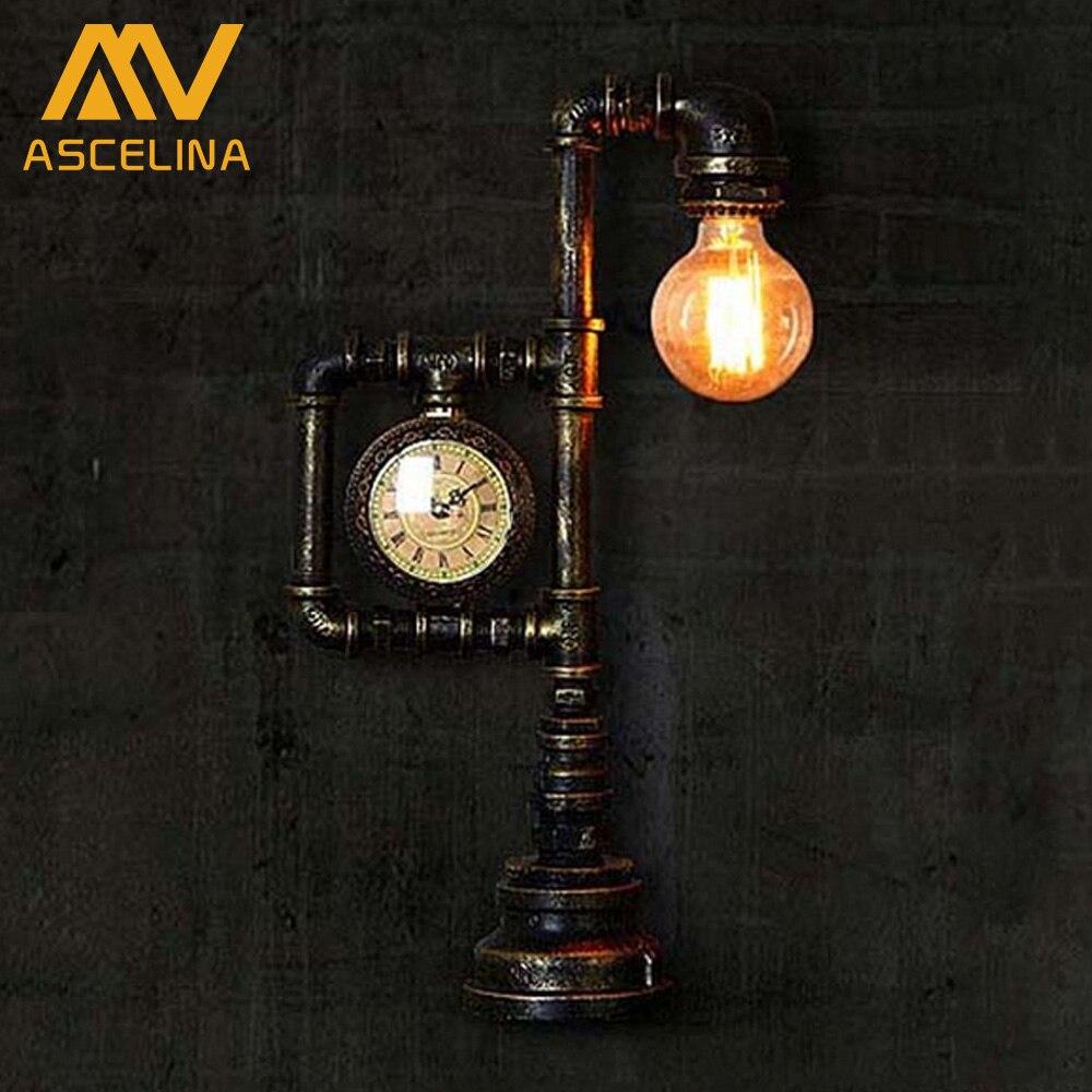 ФОТО Loft retro creative bar coffee shop industrial decorative table light personalized 1 Edison bulbs water pipe iron desk light