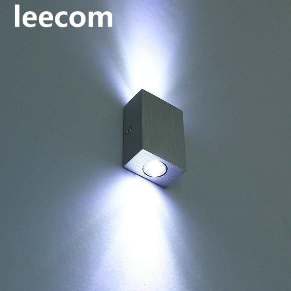 newLED Wall Light up Down Aluminum 2W Indoor Mini Designed Wall Sconce Lamp Bedside Wall Lights
