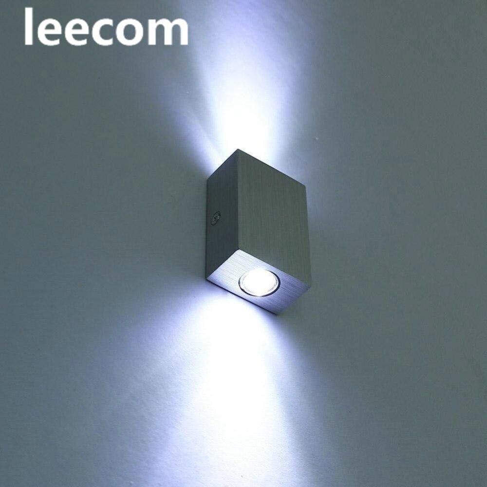 NewLED ウォールライトアップダウンアルミ 2 ワット屋内ミニ設計された壁燭台ランプベッドサイド壁リビングルーム廊下寝室  グループ上の ライト & 照明 からの LED 室内壁掛け照明 の中 1