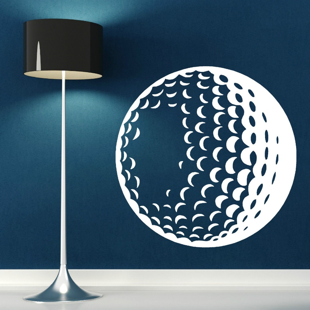 Removable 3d Poster Golf Ball Vinyl Wall Art Sticker Decal