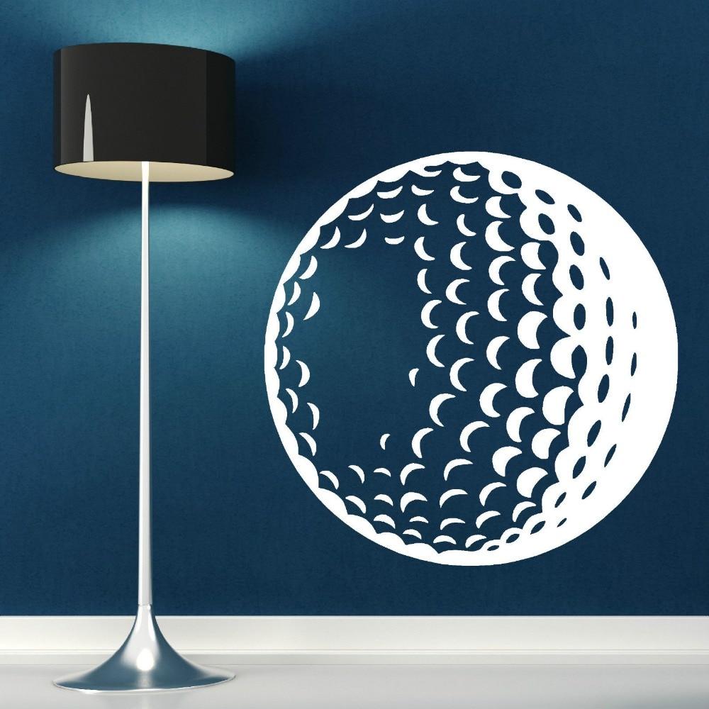 Removable 3d poster golf ball vinyl wall art sticker decal for Temporary wall art