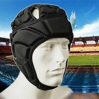 Erkekler Meslek Futbol Futbol Kaleci Kask Spor Rugby Scrum Kap Baş bekçi Kaleci Silindir Şapka Fiber Kafa Koruyucusu