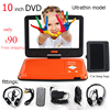 Free Shipping 10 Inch Portable Dvd Player companion Hang bags Car charger dvd two headphones Ultra-thin fashion 4hours battery