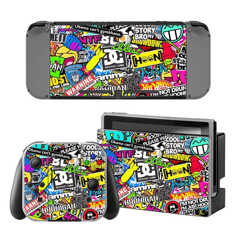 Bomb Vinyl Decal Skin Sticker Protector For Nintend Switch Console Bombing Skin Sticker Cover For Nintendo Switch Controller