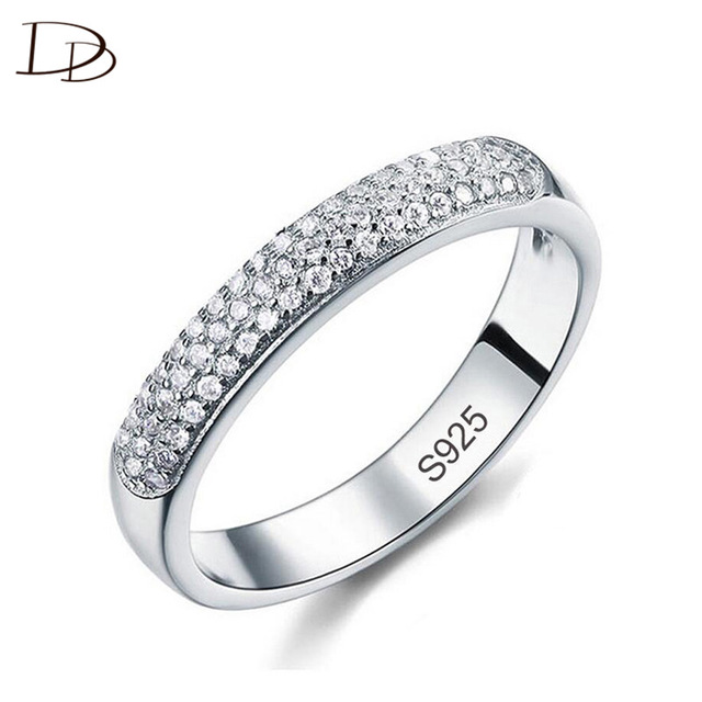 DODO AAA Zircon Rings Silver Color Band Rings Jewelry
