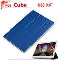 """Новое Прибытие 9.6 """"Ультра тонкий чехол Для Cube u63 Мода pu Кожаный чехол чехол для Cube u63gt"""