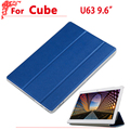 "New Arrival 9.6"" Ultra thin case For Cube u63 Fashion pu Leather case cover for Cube u63gt"