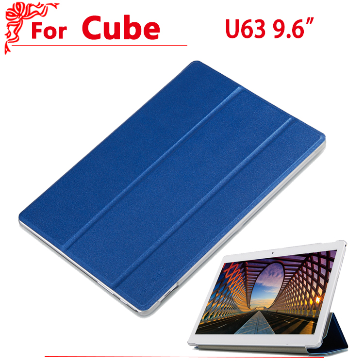 New Arrival 9.6 Ultra thin case For Cube u63 u63 plus iplay 9 Fashion pu Leather case cover for Cube u63gt sldpj stylish ultra thin protective pu leather case cover w visual window for iphone 4 4s red