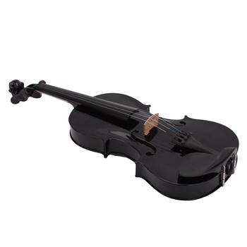 цена на 4/4 Full Size Acoustic Violin Fiddle Black with Case Bow Rosin