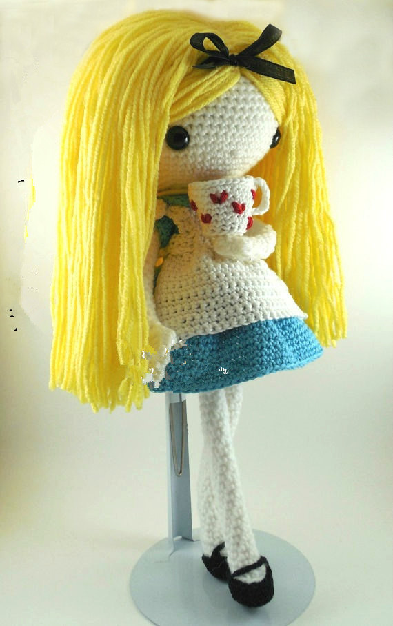 Beautiful Crochet Girl Toy Doll Rattle Gift