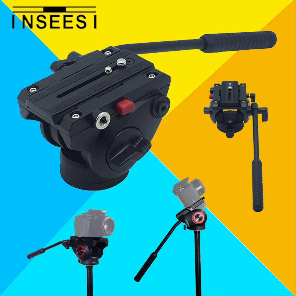 INSEESI Aluminum Alloy Fluid Drag Head Tripod Head photography The camera Holder Tripod For DSLR Nikon Canon Sony Came diat aluminum alloy tripod video monopod with fluid pan head 3 feet support unipod holder for canon sony nikon dslr