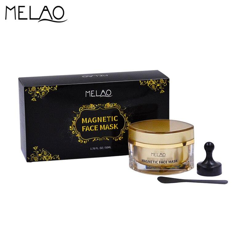 MELAO Mineral magnético cara máscara de limpieza de poros elimina las impurezas de la piel espátula imán algas máscara