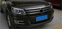 Stainless Steel Front Bonnet Machine Cover Molding Trim 1 pcs Fit For VW Volkswagen tiguan 2010 2011 2012 2013 2014 2015 2016