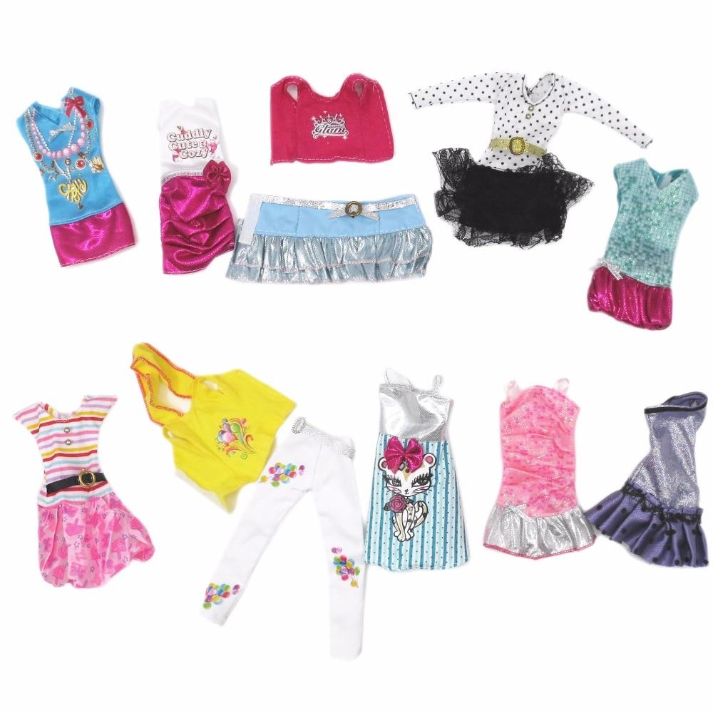 10 Σετ Ρούχα Μόδα Κούκλες για κορίτσια για κορίτσια ύψους 30 cm Ύψος ... 9272832a0ad