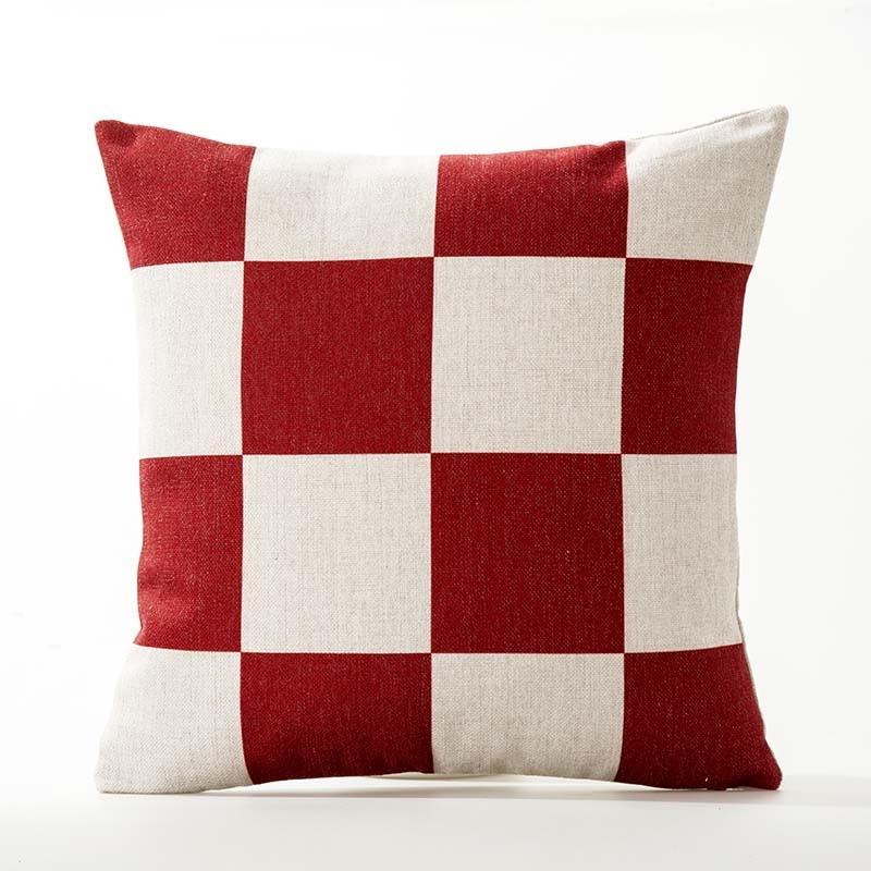 Red Striped Cushion Cover Geometric Decorative 45x45cm Throw Pillows Case  For Sofa Seat Creative Decoration Cushions For sofa