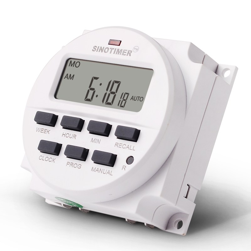 5V 12V 110V 220V Power Supply 7 Days Weekly Programmable Digital Electronic Lighting Daily Timer in Timers from Tools