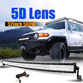 """Auxmart 5D 52"""" 500w Curved Spot Flood Combo Beam 12V LED Light Bar Offroad 4x4 4WD Camper Truck Trailer Camper 24V Tractor Van"""