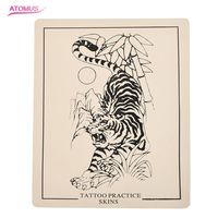 5pcs/lot Professional Tattoo Tiger Practice Skin Fake Practice Skin For Beginners