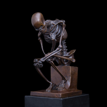Classical Arts bronze sculpture skeleton statues figurine abstract art collection home decor CZS-055