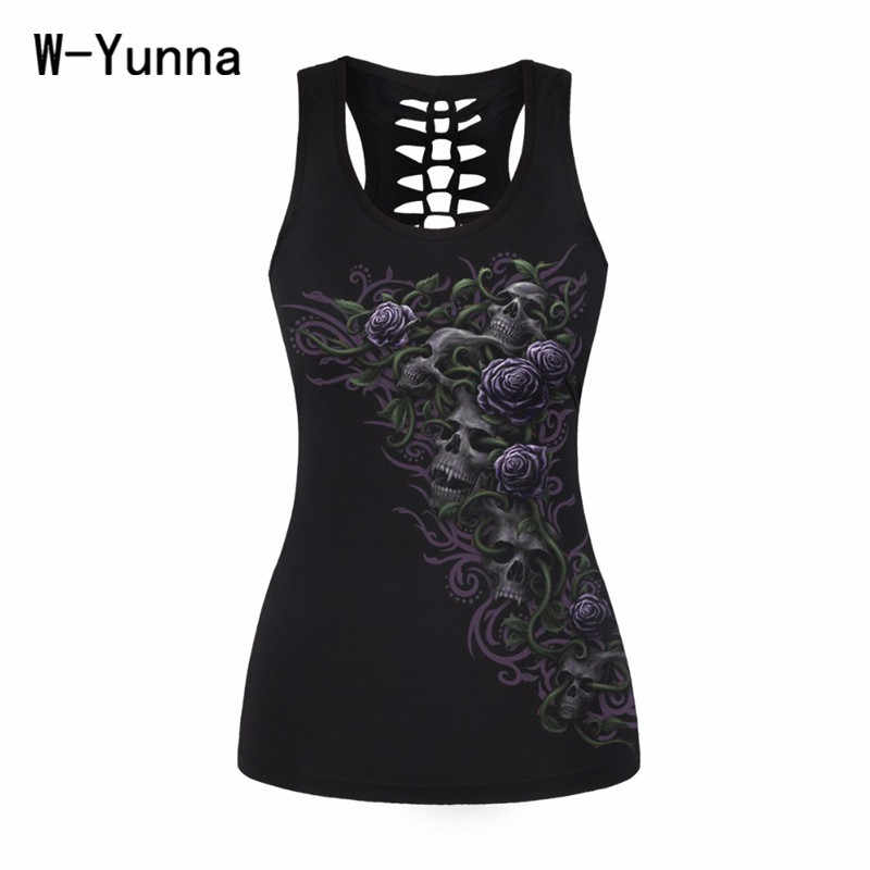279428c1dd4 ... Summer New Skeleton Cat horse Tank Tops Women Bodybuilding Halter Top  Black Slim Women Sportes Camis ...
