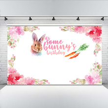 Mehofoto Birthday Photography Backdrops Party Banner Decoration Rabbit Red Flowers Background Customized Backdrops For Photo mehofoto happy mother s day party backdrops photography flowers background photographic for mother props for photo shoot