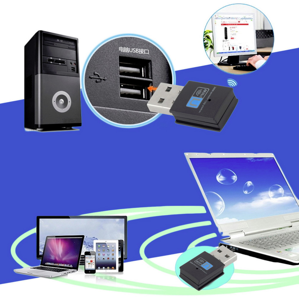 Faster 300M USB WiFi Wireless LAN 802.11 n/g/b Adapter Nano Network 300Mbps for Raspberry Pi 2 Model B Hot Worldwide