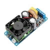 1 ADET IRS2092S 500 W Mono Kanal Dijital Amplifikatör D Sınıfı HIFI Güç Amp Kurulu FAN Modülü Kurulu Ile Entegre devreleri