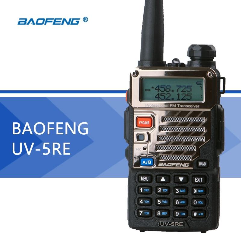Baofeng UV-5RE Talkie Walkie UV-5R Version Améliorée UHF VHF Double Montre UV 5RE CB Radio VOX FM Émetteur-Récepteur pour La Chasse radio